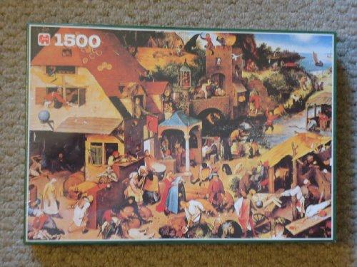 Jumbo 1500 Jigsaw Puzzle Proverbs By Pieter Bruegel