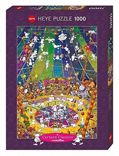 Heye Crazy Circus Mordillo Cartoon Puzzles 1000-Piece Multi-Colour by Heye