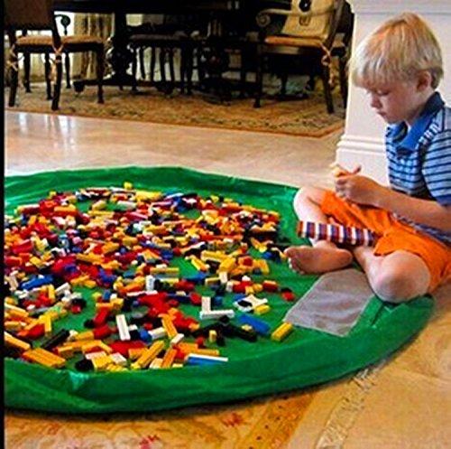 Childrens Play Mat-Kathy Toys Storage Bag 60 inch Buddy Toy Organizer Green