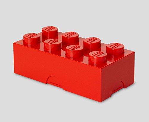LEGO Bright Red Lunch Box 8 Childrens Toy Storage Brick