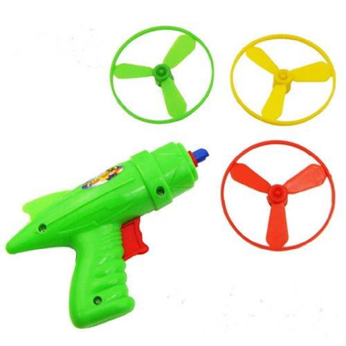 YOYOSTORE Space Toy Gun Spin Flying Saucer Shooter Model Kit Children Kids Christmas Gift ---- Randomly Color