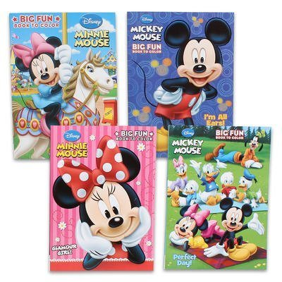 Disneys Mickey Mouse Minnie Mouse Plus Friends Activity And Coloring Book Set Of 4