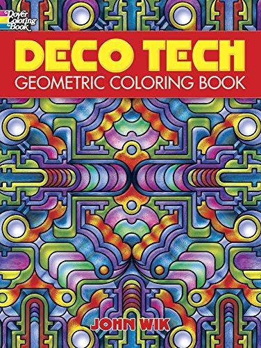 Dover Publications-Deco Tech Geometric Coloring Book