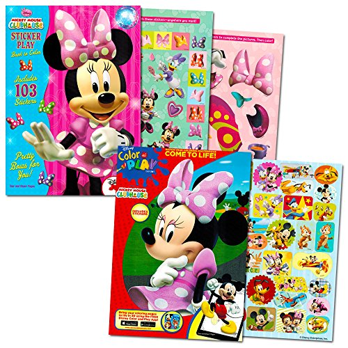 Minnie Mouse Coloring Book Set with Stickers 2 Book Set
