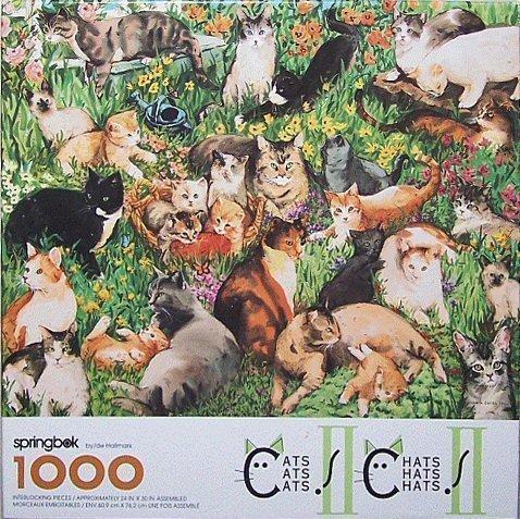 Springbok 1000 Piece Puzzle - Cats Cats Cats II by Springbok