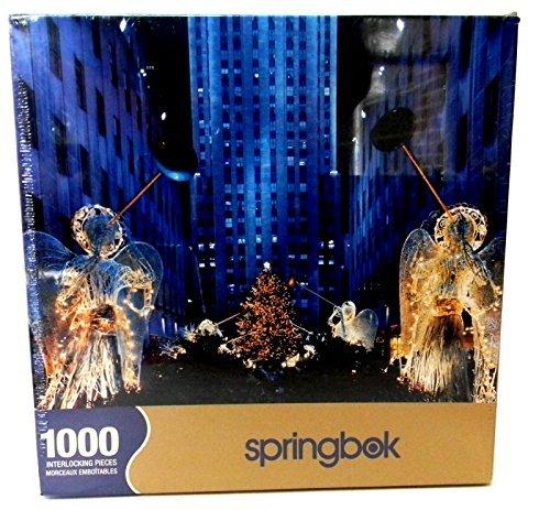 Springbok 1000 Piece Puzzle - Heralding Angels - Rockefeller Center New York City At Christmas by Springbok
