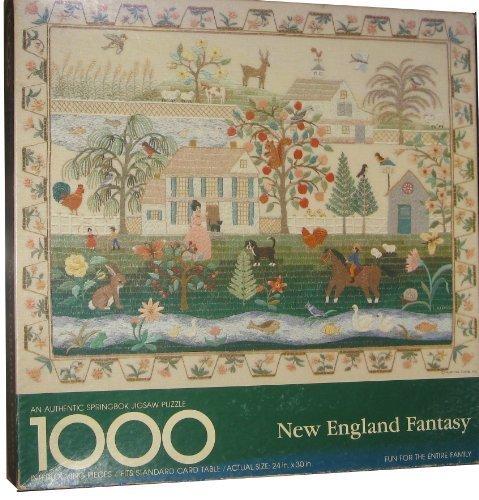 Springbok 1000 Piece Puzzle - New England Fantasy PZL5953 - Cross Stitch By Lucy Harmon