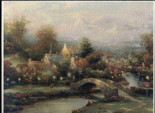 Springbok 1000 Piece Puzzle - Thomas Kinkade Painter of Light - Lamplight Village PZL6196