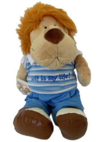 Nici golf edition lion plush - sports animal golf lion stuffed animal doll