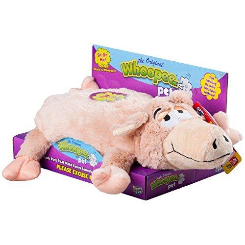 Snuggle Pets Original Whoopee Cushion Pet Pig Stuffed Animal Novelty Gag Gift