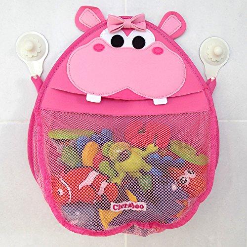 Henrietta Hippo Bath Toy Organizer Pink