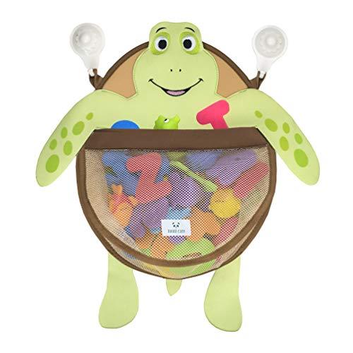 Nooni Care Bath Toy Organizer for Bathroom Storage and Nursery Tubby Turtle Kids Bath Tub Toys Storage Mesh Basket