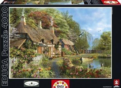 Riverside Home in Bloom - Educa 4000 Piece Puzzle by Educa