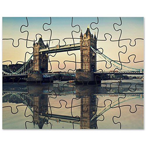 30 Pieces Puzzle frameless Design TOWER BRIDGE rectangular 24x19 cm  VIP Pictures World powered by CRISTALICA