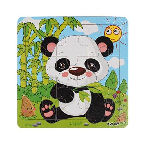 IuhanFashion Childrens Wooden Panda Jigsaw Puzzle Toys Gifts