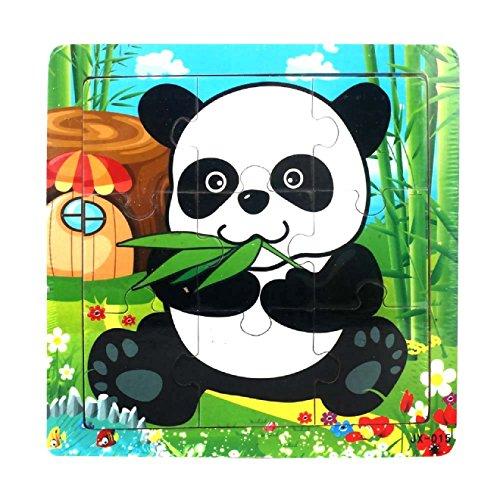 Ularmo Kid Child Wooden Educational Learning Panda Jigsaw Puzzles Toys