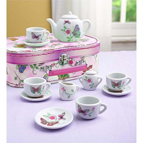 12 Piece Butterfly Tea Set Play Tea Set