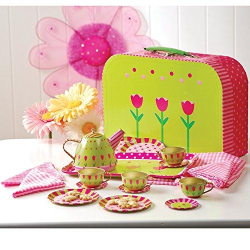 Constructive Playthings Take-Along Tin Tea Set