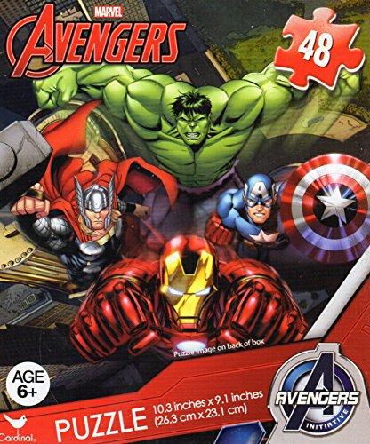 Avengers 48 Piece PuzzleCAPTAIN AMERICA HULK THOR BLACK WIDOW HAWKEYE FALCON AND IRONMAN