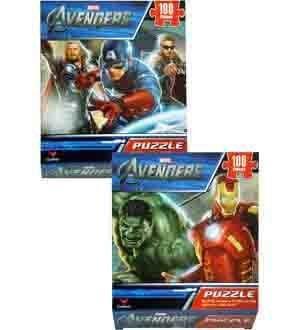 Avengers Puzzle 100 Pcs 2 Asst 4 PiecePack - 36929B