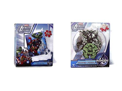 Marvel Avengers 2 Pack Jigsaw Floor Puzzle 100pcs Each