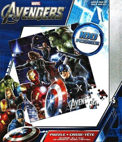 Marvel Avengers Puzzles Thor Hawkeye Captain America 100 piece Jigsaw