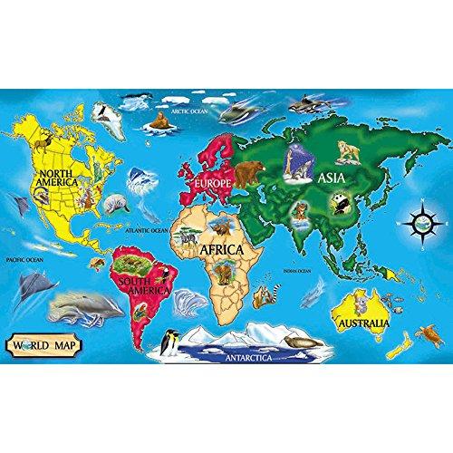 6 Pack MELISSA DOUG FLOOR PUZZLE WORLD MAP