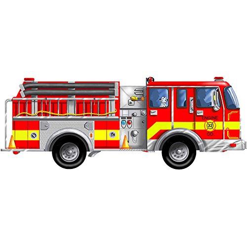 MELISSA DOUG FLOOR PUZZLE GIANT FIRE TRUCK 24piece 4Feet long 3Pack