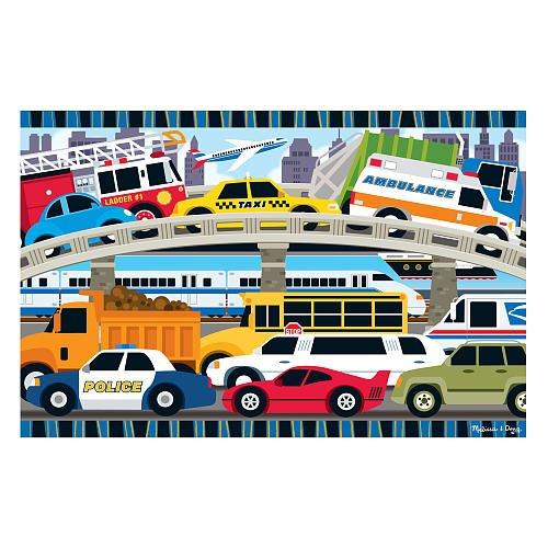 Melissa Doug Floor Puzzle - Traffic Jam
