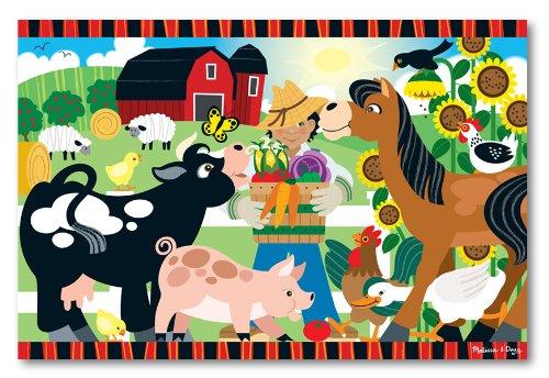 Melissa Doug Happy Harvest Farm Floor Puzzle