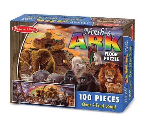 Melissa Doug Noahs Ark Jumbo Jigsaw Floor Puzzle 100 pcs over 4 feet long