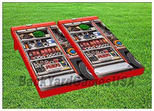 Firetruck Cornhole Boards Beanbag Toss Game W Bags Fire Engine Truck Set 194