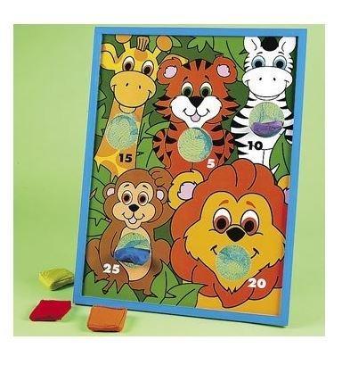 Fun Express Jungla Animal Kids Beanbag Toss Game for Zoo Themed Parties by Fun Express