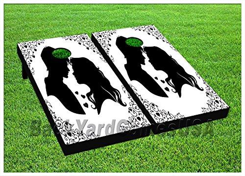 Wedding Cornhole Beanbag Toss Game W Bags Game Board Love Newly Weds Set 586