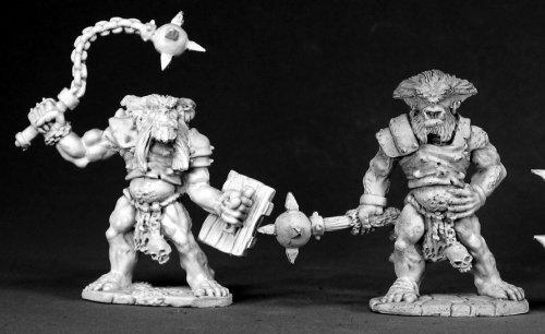 Reaper Miniatures Bugbear Warriors 02469 Dark Heaven Legends Unpainted Metal