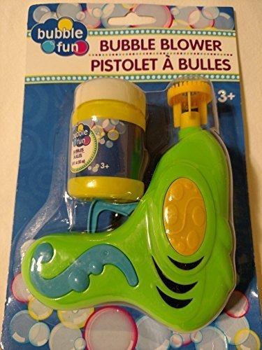 Green Gun Bubble Blower with Bubble Bottle