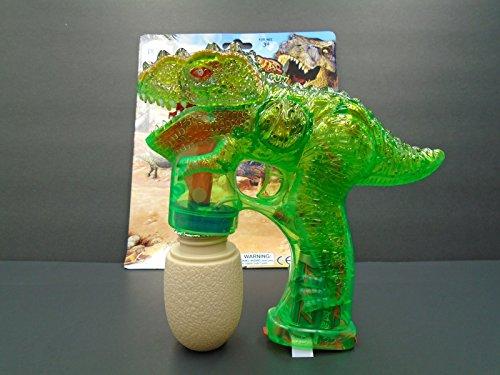 Lokky Dinosaur Green Bubble Gun Flashing Light Up Bubbles Blower Birthday PartyCOLOR MAY VARY