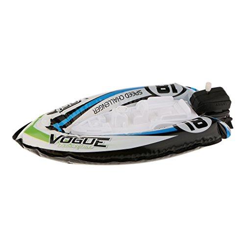 Kids Children Inflatable Wind Up Speedboat Boat Pool Bath Toy Random 2