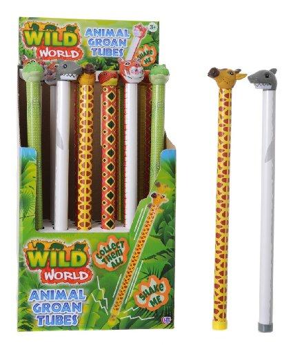 10 X 42cm Animal Groan Tube - Slide Up  Down For Sound - Party Bag Toys HL272