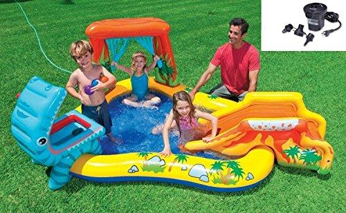 Intex Dinosaur Play Center Inflatable Kids Swimming Pool  Quick Fill Air Pump