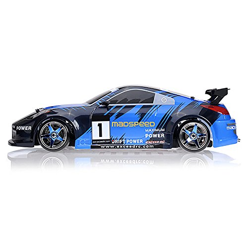110 Scale Exceed RC MadSpeed Electric Powered Drift Car 350 Style Fire Blue