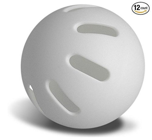 Sky Bounce Plastic Curve Baseball Lightweight Similar to Wiffle Ball -White Color- Fun for All Ages Tee-Ball Pack of 12 Balls