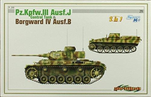 Cyber Hobby 135 PzKpfwIII AusfJ Borgward IV AusfB 2 in1 Kit 6510