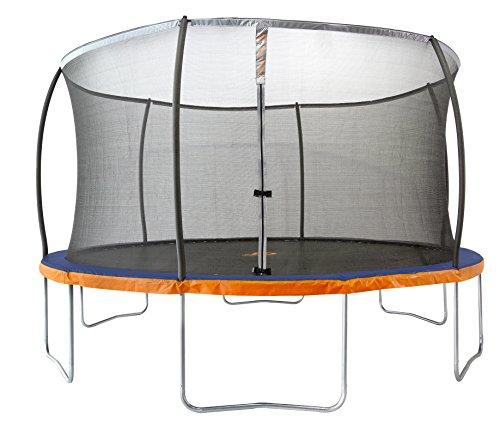 Jump Power Trampoline Safety Net Enclosure System BlueOrangeBlackSilver 14
