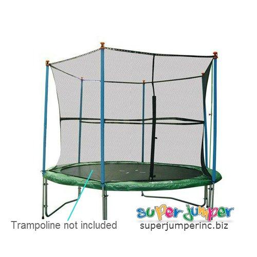 Super Jumper Magic Safety Net Enclosure Trampoline Black 14-Feet