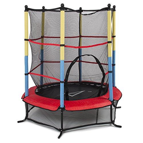 Akonza 55 45FT Outdoor Trampoline Junior Kids Activity Fun Safety Net w Enclosure Net Pad Rebounder Exercise