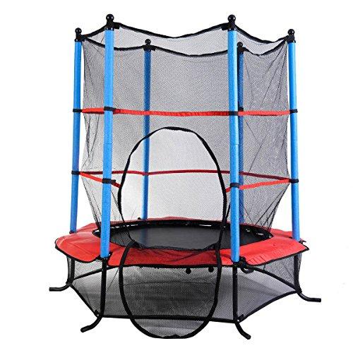 Clevr Round 64 H 55 W Kids Mini Trampoline Enclosure Net Rebounder Outdoor