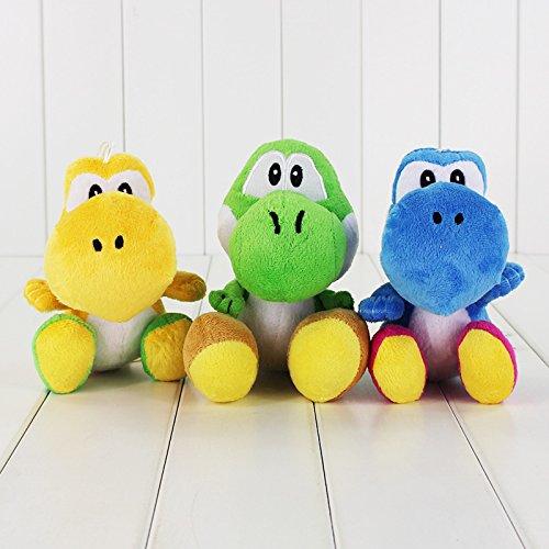 Super Mario Bros Yoshi Dragon 7 Inch Toddler Stuffed Plush Kids Toys 3 Pcsset