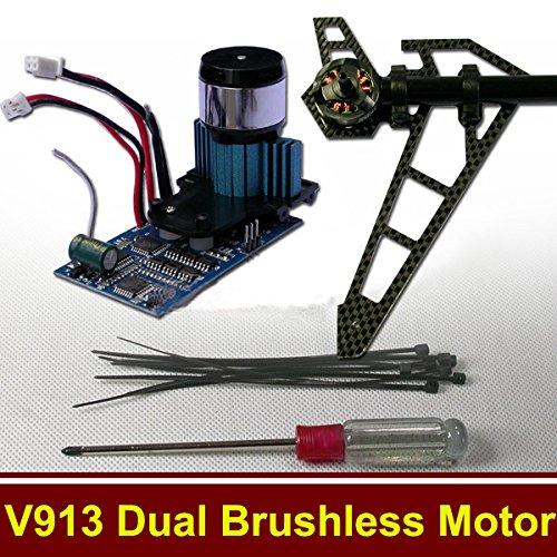 WLtoys V913 RC Helicopter Parts Upgraded Kit Dual Brushless Motor
