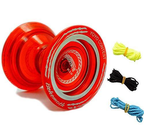 MAGICYOYO Bi Metal YoYo K10 Plastic YoYo Professional Uresponsive YoYo Red 3 Strings